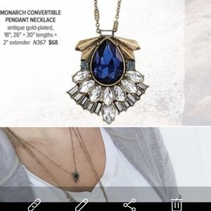 c+i Monarch 3 Row Convertible Pendant Necklace